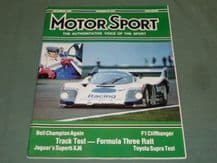 MOTOR SPORT 1986 November (Portugal GP, Fuji 1000,Mexican GP,Spa 1000 Gp C)
