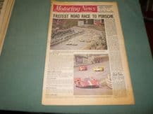 MOTORING NEWS 1970  May 21 Spa 1000kms World Cup Rally, Wiscombe Hillclimb