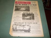 MOTORING NEWS 1970 Sept 17 F2 Tulln, Can Am Atlantia, F5000, Palace F3, Sherry Rally