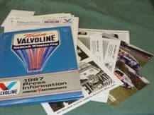 NASCAR Valvoline Pontiac 1987 press kit.