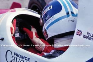 Paul Warwick Reynard 90D cockpit photo 1991 British F3000 Oulton March 30 (a)