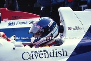 Paul Warwick Reynard 90D cockpit photo 1991 British F3000 Oulton March 30 (c)