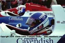 Paul Warwick Reynard 90D  cockpit photo 1991 British F3000 test Oulton Park (c)