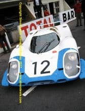 Porsche 917 Elford & Attwood, Le Mans 1969 Pits before the start.