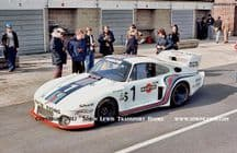 PORSCHE 935-77 Group 5. Photo. Mass/Ickx car in pit lane before Silverstone 6 Hours 1977 (a)