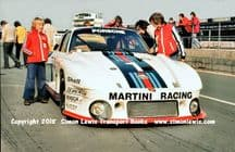 PORSCHE 935-77 Group 5. Photo. Mass/Ickx car in pit lane before Silverstone 6 Hours 1977 (c)