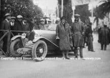 Ratier 750cc. Photo .Sir Francis & Lady Samuelson, Monte Carlo Rally 1928