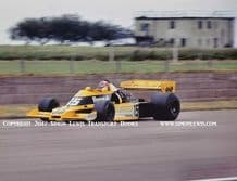 Renault RS01 Turbo. Photo. Jean-Pierre Jabouille. British GP 1977 (Debut in F1) A