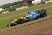 Renault RS25 F1. Fernando Alonso at speed.Silverstone 2005 (a)