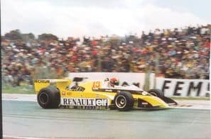 RENAULT TURBO F1 Jabouille French GP 1979 poster 35x24