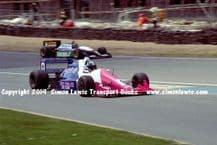 Reynard 90D  Paul Warwick , Lola T90/50 Phil Andrews photo 1991 British F3000 Brands May 12th