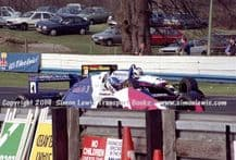 Reynard 90D  Paul Warwick , Lola T90/50 Phil Andrews photo 1991 British F3000 test Oulton Park