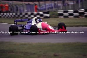 Reynard 90D Paul Warwick photo 1991 British F3000 Brands Hatch June 30 (a)