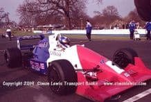 Reynard 90D  Paul Warwick photo 1991 British F3000 test Oulton Park Grid (a)