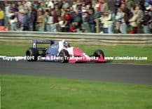 Reynard 90D  photo  Paul Warwick  1991 British F3000 test Oulton Park at speed (A)
