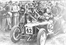 Riley 9 Elsie Wisdom & Joan Richmond in Brooklands paddock, 1932 1000 miles winners