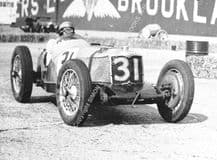 Riley , FW Dixon winning 1935 Empire Trophy, Brooklands photo