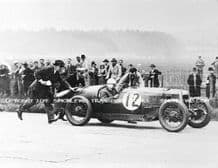 Riley Nine Brooklands. Photo.  Possiby R L Boote at  Brooklands c.1929