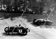 "Riley ""Red Mongrel"" FW Dixon and MG Magnette Watson/Elwes 1933 Brooklands 500. photo"