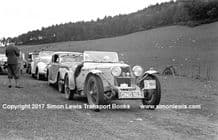 Riley Sprite DND162 Mrs Kay Haigh on 1938 Scottish Rally. Photo
