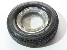 SEMPERIT Hi-Life 401 Tyre ashtray with glass bowl (1980s tread pattern?)