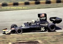 "SHADOW DN3B Tom PryceBrazil GP 1975. 10x7"" photo"