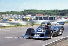 SHADOW DN4.photo Jackie Oliver at speed, Mid Ohio 1973 Can Am