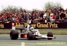 "SHADOW DN5 Tom Pryce Silverstone F1 1975. 10x7"" photo"