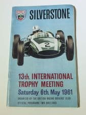 SILVERSTONE 1961  May 6  F1 DAILY EXPRESS TROPHY programme