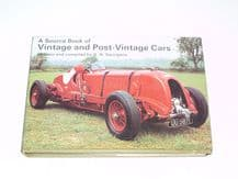 Source Book of Vintage and Post Vintage Cars Georgano (1974)