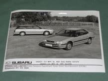 "SUBARU LEGACY 2.0 MPFi 4WD Saloon & Estate  factory issued 8x6"" press photo"