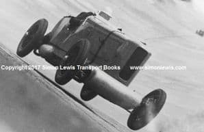 Talbot AV105 BGH 23. Photo.  Mike Couper at speed Brooklands late 30s.