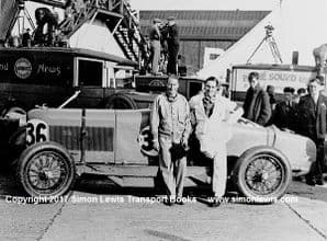 Talbot AV105 with Brian Lewis & Owen Saunder-Davies in paddock 1931 Brooklands BRDC 500. photo
