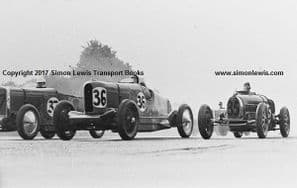 Talbot AV105s of Lewis (36),Hindmarsh(37) Bugatti T35 Brackenbury 1931 Brooklands BRDC 500. photo