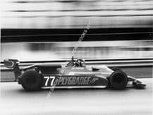 Toleman TG250 Jim Crawford. Silverstone F2 1981. Action photo.