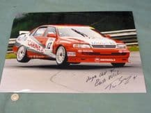 Toyota Tim Sugden 1996 BTCC large original photo SIGNED