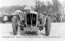 Vale Special photo.. Ian Connell's car in paddock at Brooklands early 1930's
