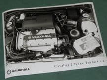 "VAUXHALL CALIBRA 2.0i 16v Turbo 4x4 (engine bay)  factory issue 8x6"" press photo"