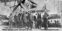 Vickers Vimy  Bomber biplane with it's   ground crew , possibly at Brooklands airfield circa 1920