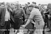 WASP 500cc  photo. Jack Moor and other Silvertsone paddock . circa 1951.