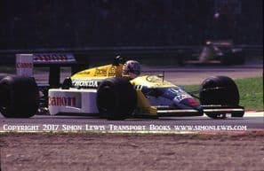 Williams FW11 Honda Turbo. Mansell 1987 Italian GP. Photo