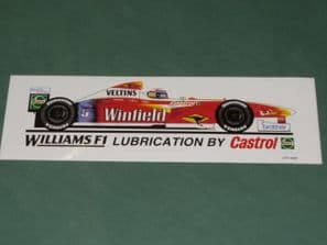 Williams FW21 Zanardi 1999 Castrol sticker