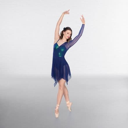 1st Position Navy Contemporary Lyrical Dress - COLD0040