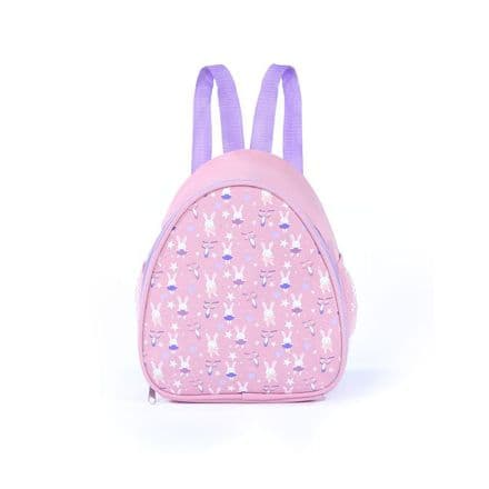 PVC Backpack Dance Bag with repeat bunny pattern - RVBNST