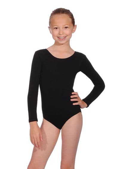 ROCH VALLEY Donna Scooped Neck Cotton Long Sleeve Dance Leotard