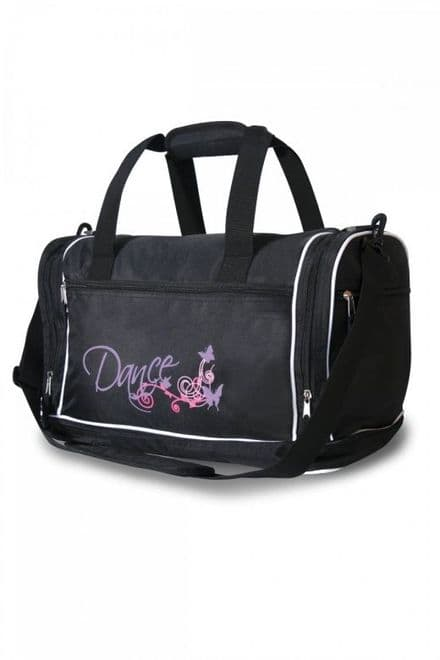 ROCH VALLEY Holdall Dance Bag Black with Purple Dance Design- FUNKY B
