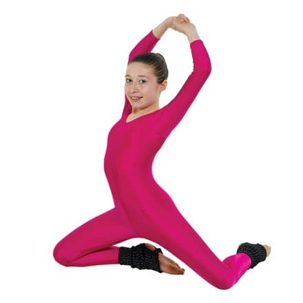Tappers & Pointers Scoop Neck Long Sleeved Nylon, Lycra Catsuit - CAT/2 for Dance, Jazz, Tap