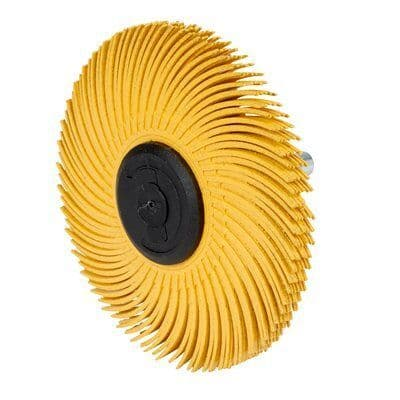 3M 75mm P80 Shaft Mounted Radial Bristle Brush for Weld Cleaning 62968
