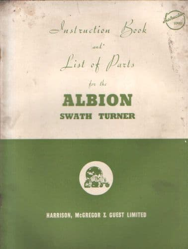 Albion Swath Turner Operators Manual with Parts List