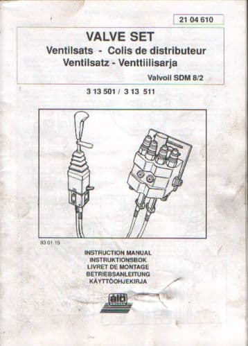 ALO Sweden Loader Valve Set Instruction Manual